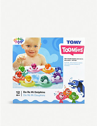 TOMY: Toomies Do Re Mi Dolphins bath toy