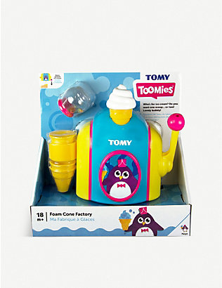 TOMY: Foam Cone Factory bath toy