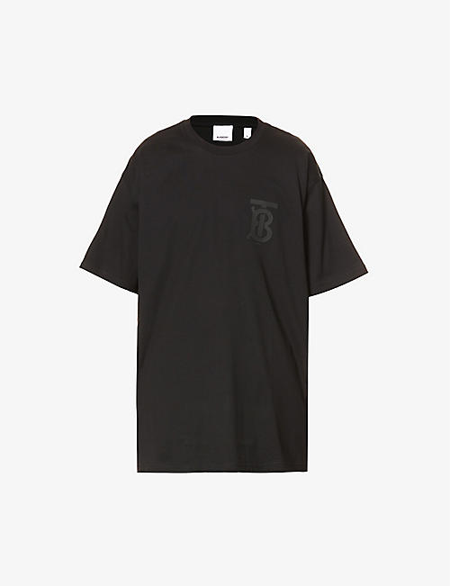 BURBERRY: Logo-print cotton-jersey T-shirt