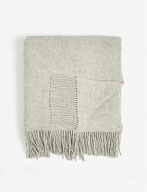 THE WHITE COMPANY: Wool and silk-blend throw