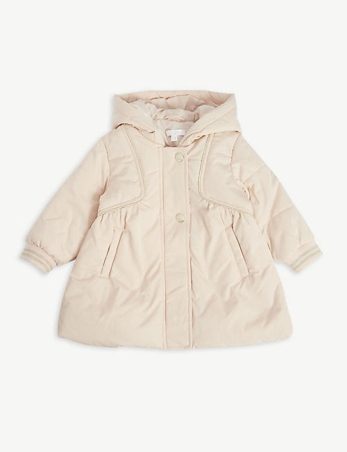 CHLOE: Padded shell hooded coat 6 months - 3 years