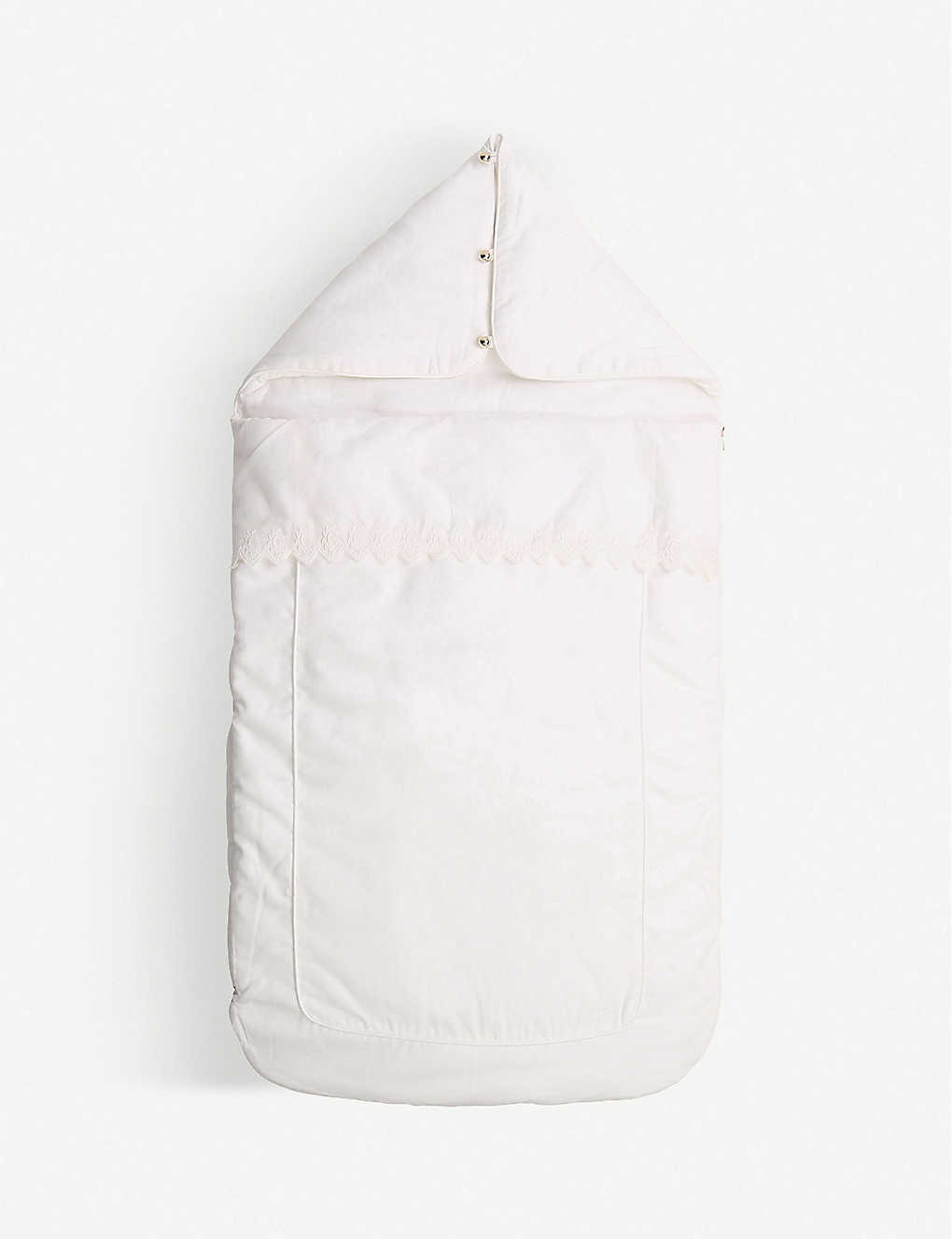 CHLOE: Lace-trim cotton padded baby nest