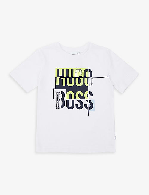 BOSS: Logo-print cotton-jersey T-shirt 4-16 years