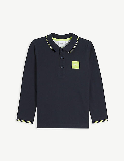 BOSS: Logo-embossed cotton polo shirt 4-16 years