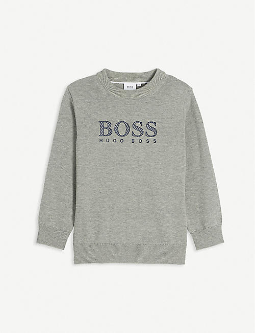 BOSS: Logo cotton-blend sweatshirt 4-16 years