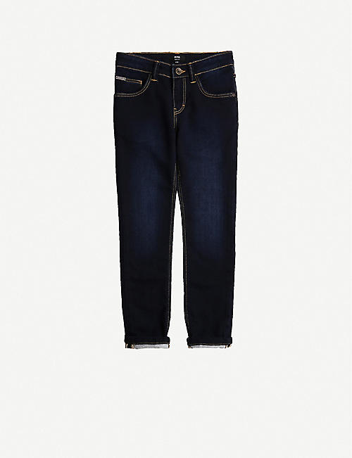 BOSS: Regular-fit cotton-blend jeans 4-16 years