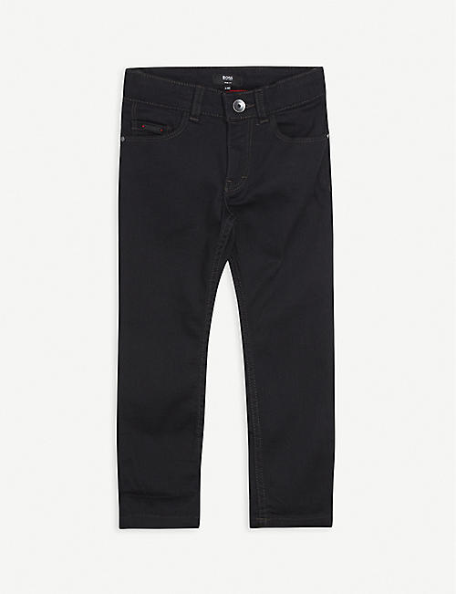BOSS: Regular-fit logo-print stretch-cotton jeans 4-16 years