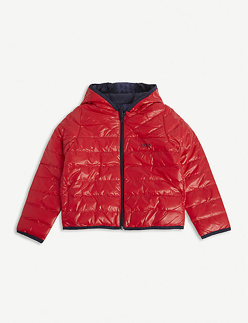 BOSS: Reversible padded shell coat 4-16 years