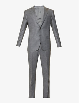 PAL ZILERI: Single-breasted regular-fit wool suit