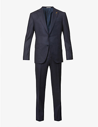 PAL ZILERI: Brera padded-shoulder wool suit