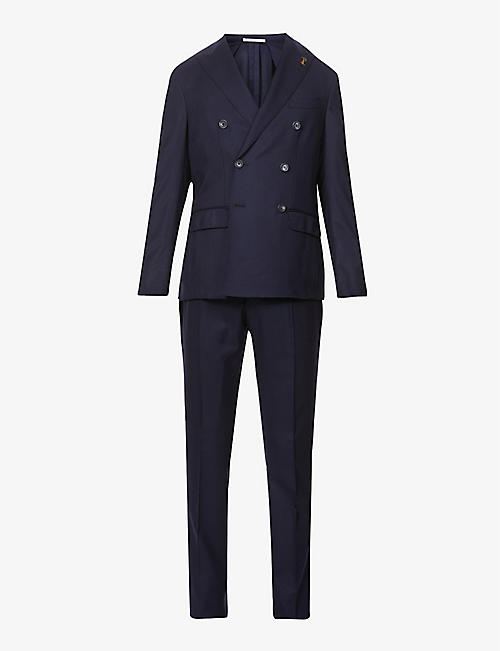 PAL ZILERI: Brera double-breasted wool suit