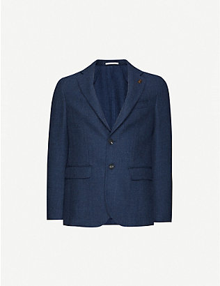PAL ZILERI: Regular-fit single-breasted wool blazer