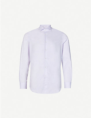 PAL ZILERI: Classic regular-fit cotton-poplin shirt