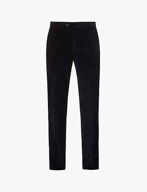 PAL ZILERI: Pressed-crease straight corduroy trousers