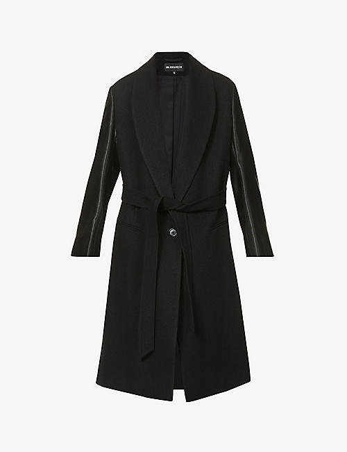 ANN DEMEULEMEESTER: Belted cotton and wool-blend coat