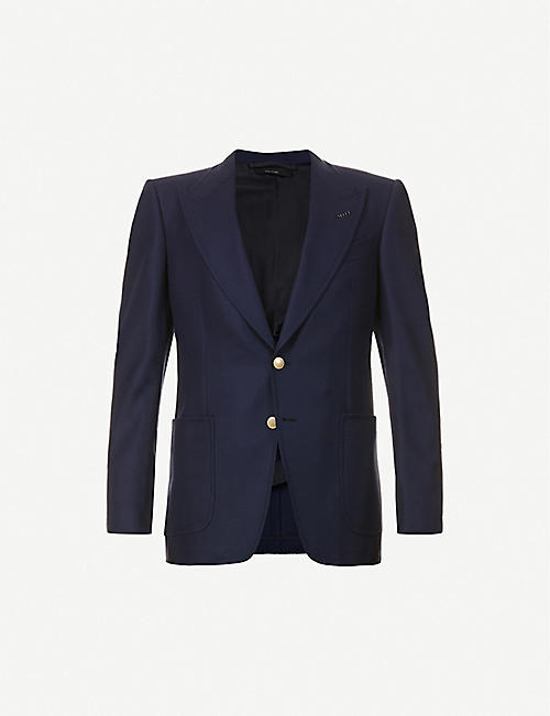 TOM FORD: Single-breasted wool and mohair-blend jacket