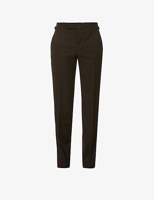 TOM FORD: Straight-leg wool trousers