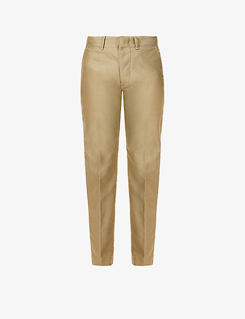TOM FORD: Straight-leg cotton chinos