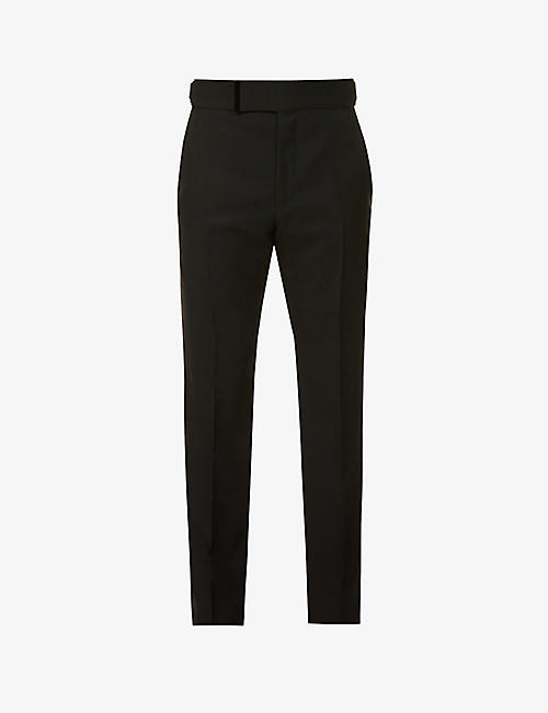 TOM FORD: Atticus straight-leg wool and silk-blend trousers