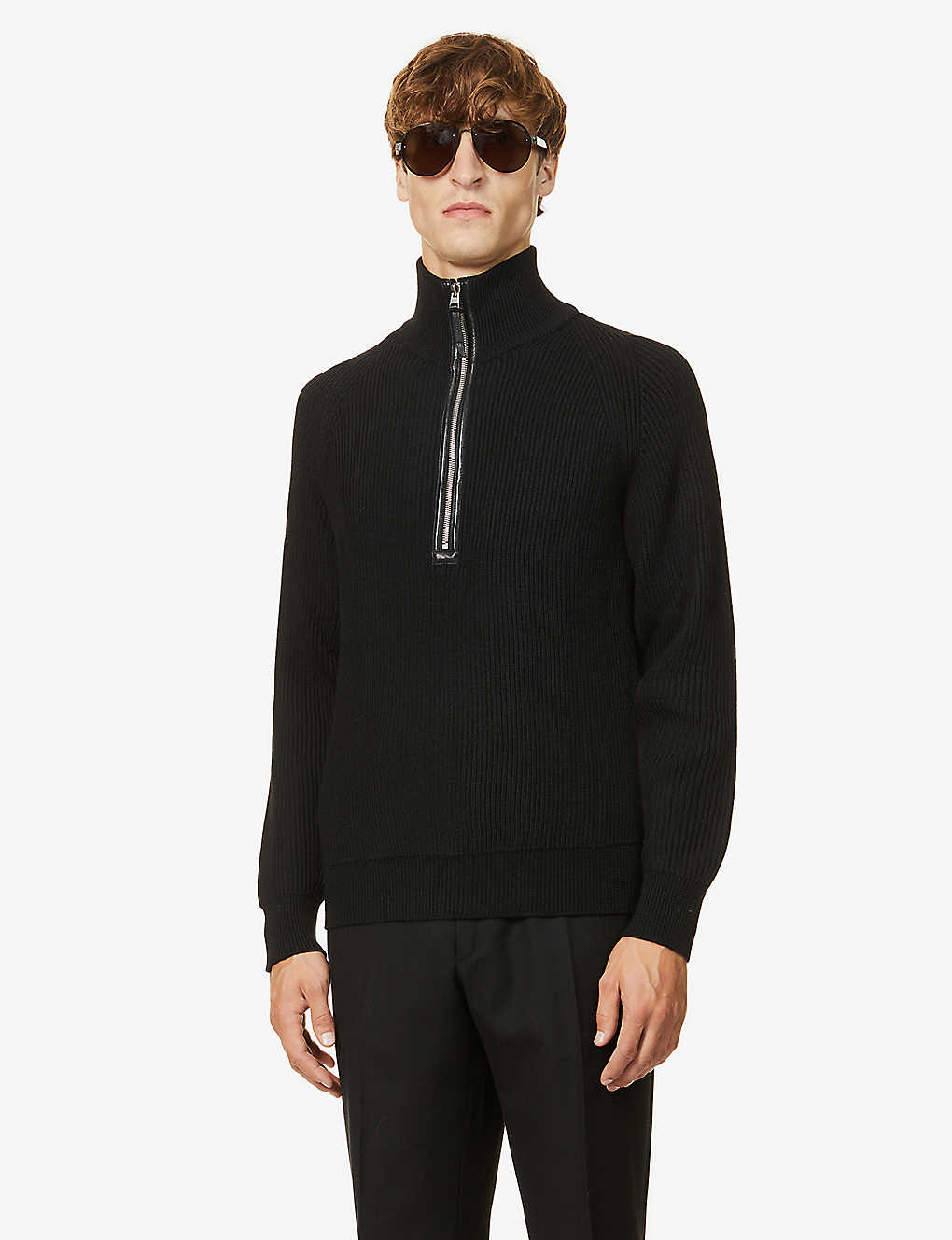 TOM FORD: Funnel neck wool jumper
