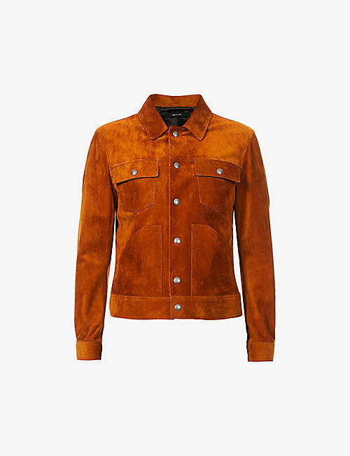 TOM FORD: Western suede jacket