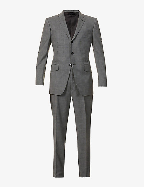 TOM FORD: O'Conner-fit houndstooth stretch-wool suit