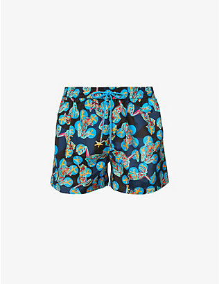 PAUL SMITH: Frog-print mid-rise swim shorts