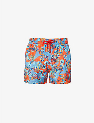 PAUL SMITH: Frog-print swimming trunks