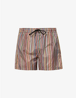 PAUL SMITH: Striped swimming trunks