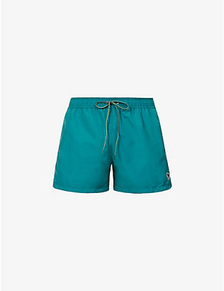 PAUL SMITH: Zebra-embroidered swimming trunks