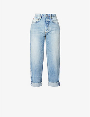 BOYISH: The Toby wide mid-rise jeans