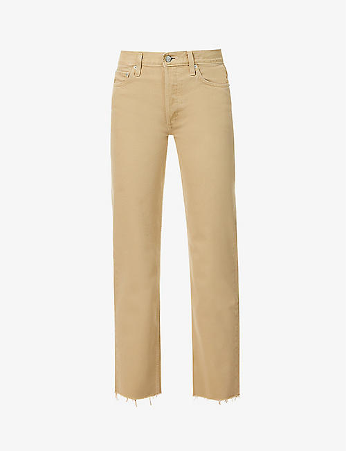 BOYISH: The Tommy straight-leg high-rise jeans