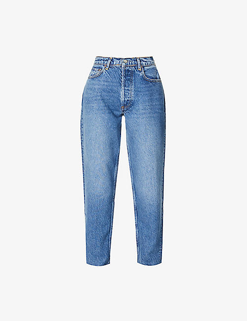 BOYISH: The Tommy straight-leg high-rise stretch-denim jeans
