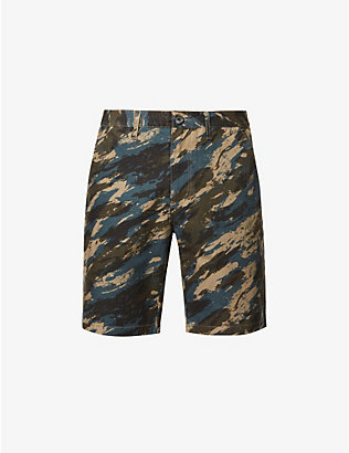 PS BY PAUL SMITH: Graphic-print cotton shorts