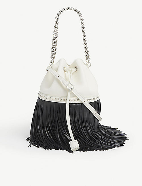 J & M DAVIDSON: Carnival fringed medium leather bag