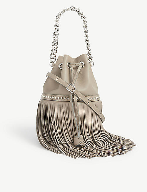 J & M DAVIDSON: Carnival fringed mini leather bag