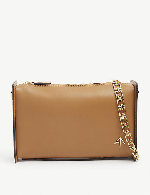 MANU ATELIER: Carmen leather cross-body bag