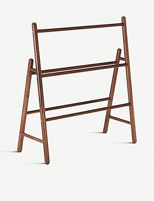 THE CONRAN SHOP: Walnut-wooden towel rail 74cm