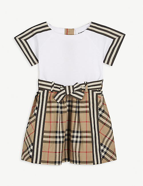 BURBERRY: Rhonda check cotton dress 6-24 months