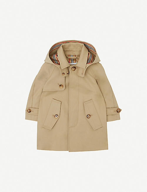 BURBERRY: Bradley cotton-twill coat 6-24 months