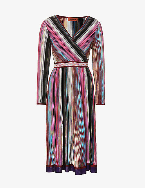 MISSONI: V-neck striped dress