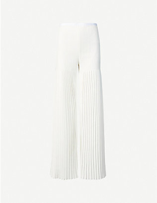 HUISHAN ZHANG: Mariella wide-leg high-rise woven trousers