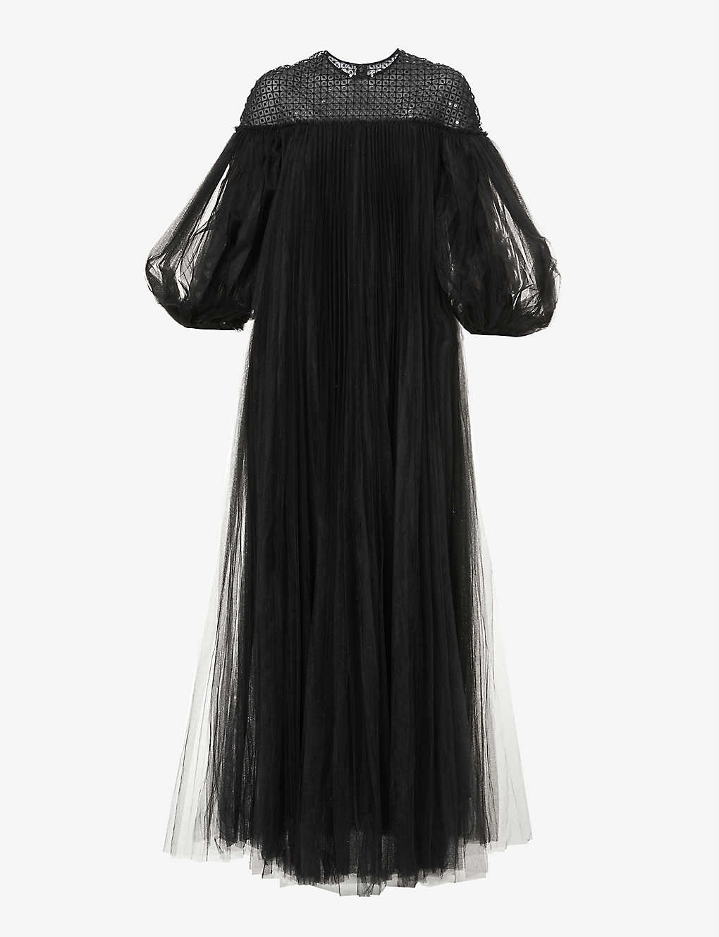 HUISHAN ZHANG: Ilaria sequin-embroidered tulle gown