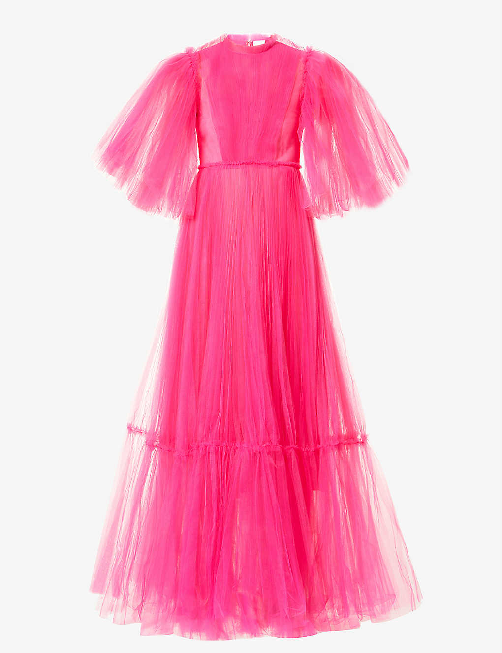 HUISHAN ZHANG: January ruffle-trimmed tulle gown
