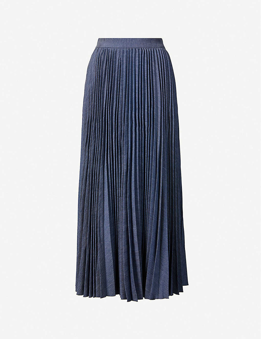 HUISHAN ZHANG: Phoebe pleated high-waist woven midi skirt