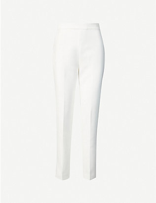 HUISHAN ZHANG: Alta straight-leg high-rise woven trousers