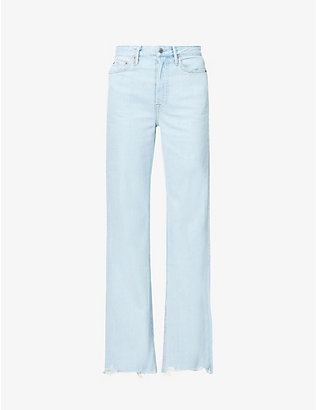 GRLFRND: Carla flared high-rise jeans