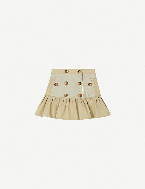 BURBERRY: Berthe cotton-twill trench skirt 3-14 years