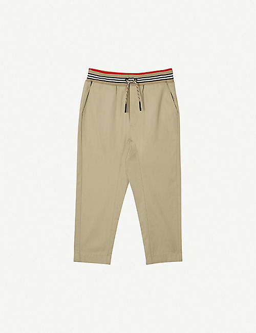 BURBERRY: Dilan stripe cotton chinos 3-14 years