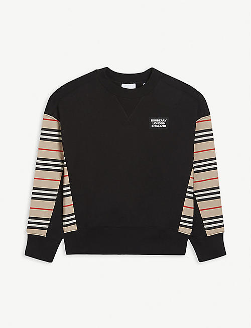 BURBERRY: Hamilton crewneck cotton sweatshirt 3-14 years